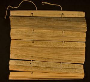 Pali Scripts on Palm Leaves
